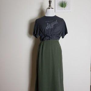 Vintage long green highwaisted skirt